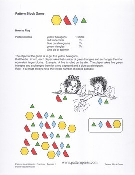 Four Pattern Block Games