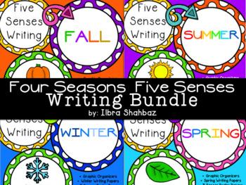 Four Seasons 5 Senses Writing Bundle