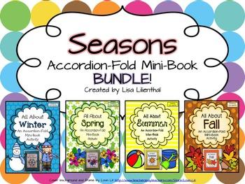 Four Seasons Bundle ~ Accordion Fold Mini-Book Activities