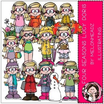 Melonheadz: Four Seasons clip art - Lucy Doris - COMBO PACK