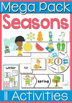 Four Seasons Math & Literacy Mega Pack for Seasons and Sea