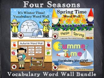 Four Seasons Vocabulary Word Wall BUNDLE