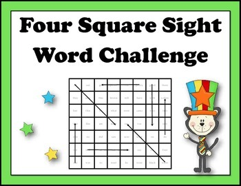 Four Square Sight Word Challenge!