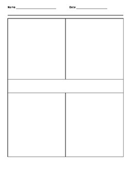 Four Square Writing Template