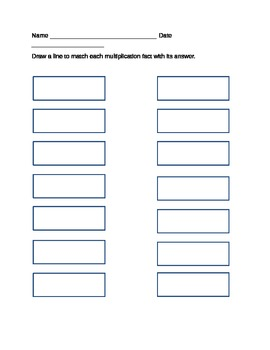 Four Times Table Matching