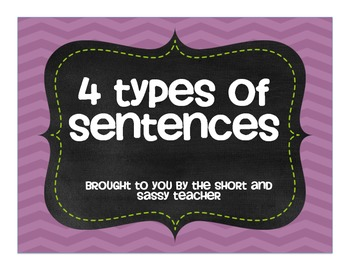 Four Types of Sentences Chevron Posters