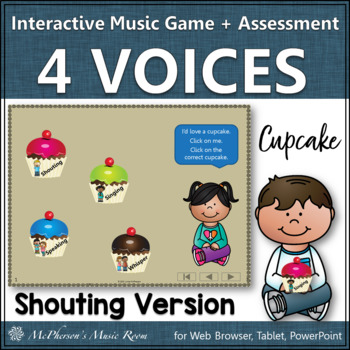 Four Voices Interactive Music Game + Assessment {cupcakes}