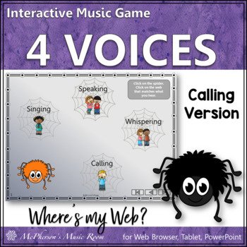 Four Voices Where's My Web? Interactive Music Game {callin
