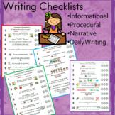Writing Checklists (informational, procedural, narrative,