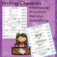 Writing Checklists 4   (informational, procedural, narrati