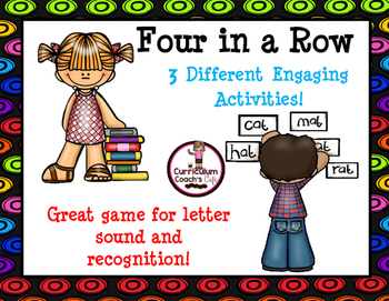 Four in a Row:  3 Activities, Letter Recognition and Sounds