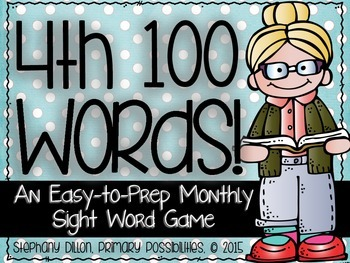 Fourth 100 Sight Words {An Easy to Prep Game}