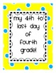 Fourth Day of 4th Grade Signs