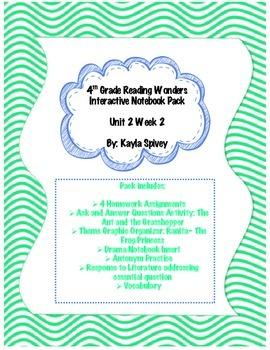 Fourth Grade (4th Grade) Reading Wonders Unit 2 Week 2 Int