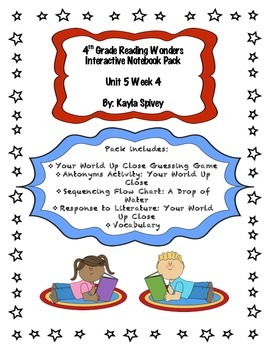 Fourth Grade (4th Grade) Reading Wonders Unit 5 Week 4 Int