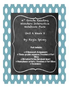 Fourth Grade (4th grade) Reading Wonders Unit 6 Week 2 Int