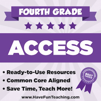 Fourth Grade ACCESS Sample - 1 WEEK OF TEACHING RESOURCES