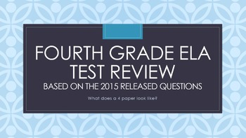 Fourth Grade Common Core ELA Test Review with NY State Rel