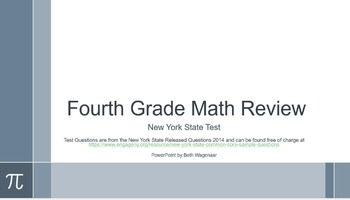 Fourth Grade Common Core Math Test Review with NY State Re
