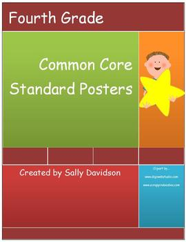 Fourth Grade Common Core Standard Posters - Kid Friendly!