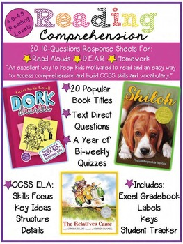 Reading Comprehension of the Week! 4.0-4.9, A Year of Week