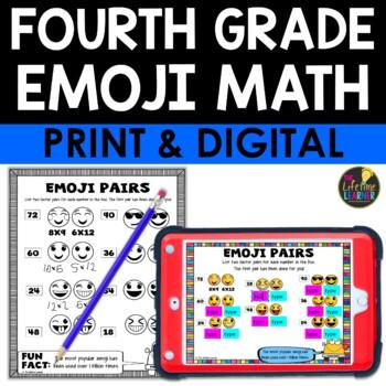 Fourth Grade Emoji Math