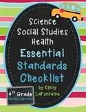 Fourth Grade Essential Standards Checklist - Science, Soci