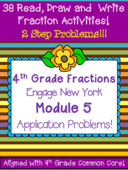 Fourth Grade Fractions Problem Solving 2 step Engage New Y