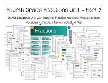 Fourth Grade Fractions Unit - Part 2