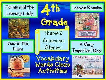 Houghton Mifflin 4th Grade Theme 2 Cloze Worksheets