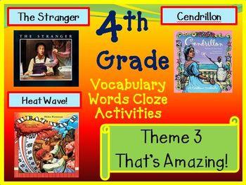 Houghton Mifflin 4th Grade Theme 3 Cloze Worksheets