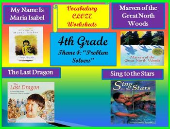 Houghton Mifflin 4th Grade Theme 4 Cloze Fill in the Blank