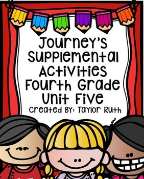 Fourth Grade Journey's Supplemental Activities for Unit Fi