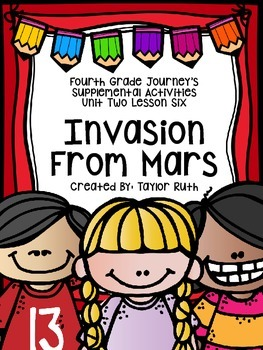 Fourth Grade Journey's Supplemental Activities: Invasion F