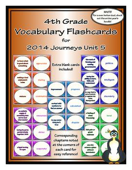 Fourth Grade Journeys Unit 5 Vocabulary Flashcards