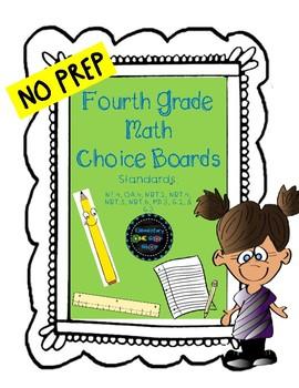 Fourth Grade Math Choice Board
