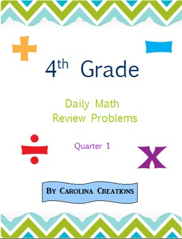 Fourth Grade Math Daily Review Problems for the Smart Boar