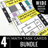 Fourth Grade Math Flip and Go Cards BUNDLE