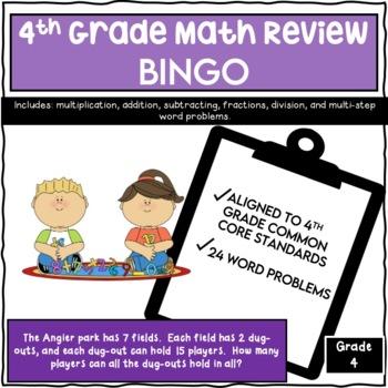 Fourth Grade Math Review Bingo