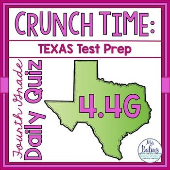 Fourth Grade Math STAAR Test Prep: Daily Quiz STAAR 4.4G