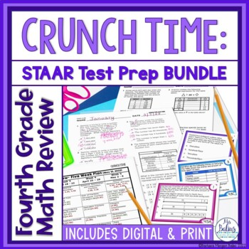 Fourth Grade Math: STAAR Test Prep: MEGA BUNDLE