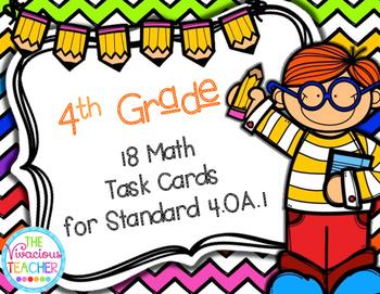 Fourth Grade Math Task Cards 4.OA.A.1