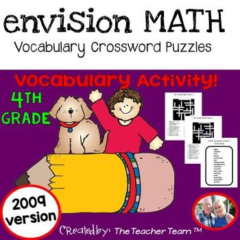enVision Math 4th Grade Vocabulary Crossword PuzzlesTopics 1-20