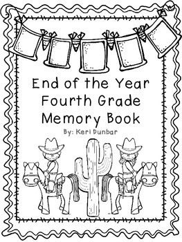 Fourth Grade Memory Book- Western Theme
