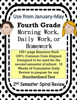 4th Grade Morning Work FREE Spiral Review