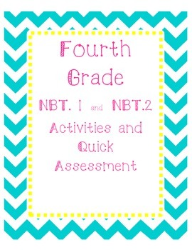 Fourth Grade NBT. 1 and NBT.2 activities or station work