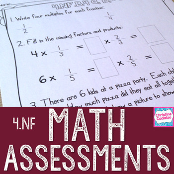 Math Assessments - Fourth Grade Fractions