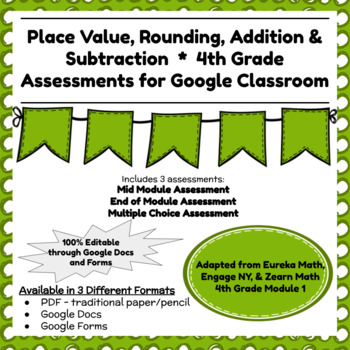 Engage NY Fourth Grade New York State Math Module 1 Assessment