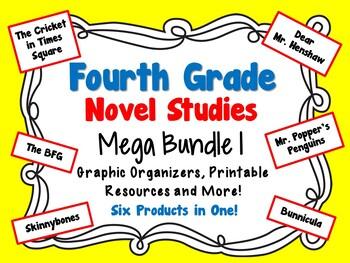 Fourth Grade Novel Studies Mega Bundle 1