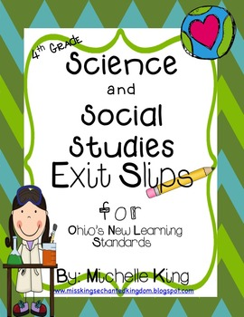 Fourth Grade Ohio Content Standard Exit Slips for Science